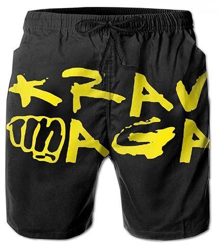 HappyHrs Shorts Casuales Krav Maga Shorts de baño Shorts de Playa para Hombre